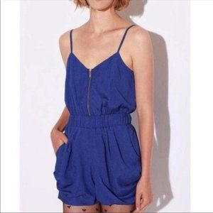 Lucca Couture Blue Romper with Pocket S